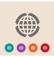 Globe Icon Flat design style vector image