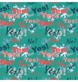 Seamless pattern background with the words yes and vector image