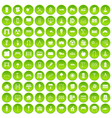 100 architecture icons set green circle vector image vector image
