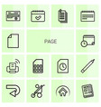 14 page icons vector image vector image