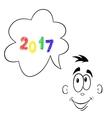 2017 year looking forward vector image