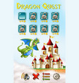 a dragon game template vector image vector image