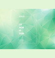 abstract modern gradient green mint of low vector image vector image