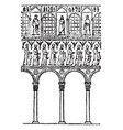 arches of s apol linare nuovo ravenna vintage vector image
