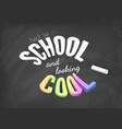 back to school and looking cool concept vector image vector image