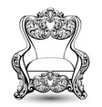 baroque armchair with luxurious ornaments vector image