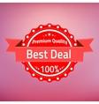 Best deal premium quality badge vector image