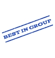 Best In Group Watermark Stamp vector image vector image
