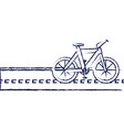 bicycle vehicle in the road isolated icon vector image