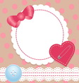 Birthday card with heartlace and bow contains a vector | Price: 1 Credit (USD $1)