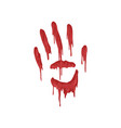 bloody handprint with streaks vector image vector image