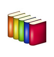 books in multicolored covers vector image