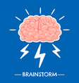 brainstorming new idea brain innovation and vector image
