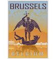 Brussels vintage poster vector image vector image