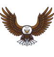 cartoon eagle mascot vector image vector image