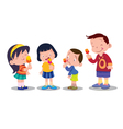 children eat ice cream vector image vector image