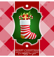 Christmas vintage background with gifts in sock vector image vector image