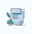 contract paper document agreement award flat icon
