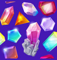 crystal stone crystalline gem and precious vector image vector image