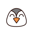 cute face penguin animal cartoon icon vector image