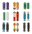 different skateboards set vector image vector image