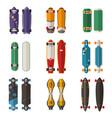 different skateboards set vector image vector image