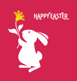 easter cartoon greeting card with vector image vector image