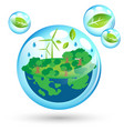 eco friendly world for earth day vector image vector image