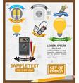 energy logos energy infographics energetics vector image vector image