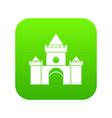 fairytale castle icon digital green vector image vector image