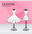 fashion boutique facade clothes shop women vector image