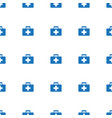 first aid kit icon pattern seamless white vector image vector image