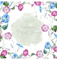 Floral watercolor frame vector image