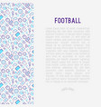 football concept with thin line icons vector image