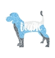 Form of round particles beagle dog isolated vector image vector image