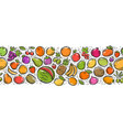 fruits seamless background food concept vector image