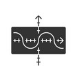 function graph glyph icon duplicate vector image vector image