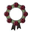 funeral wreath icon cartoon style vector image vector image