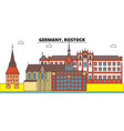 germany rostock city skyline architecture vector image vector image