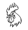 Hand drawn of black rooster on white