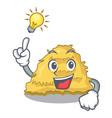 have an idea hay bale mascot cartoon vector image