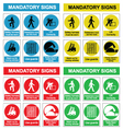 Health and safety sign collection vector image vector image