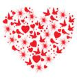 heart bird vector image
