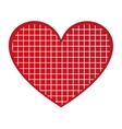 heart love red romantic vector image vector image
