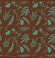 herbal sketch detox seamless pattern brown vector image