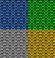 honeycomb patterns vector image vector image