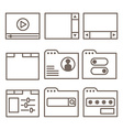 icons of interface screens or software windows vector image vector image