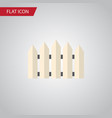 isolated fence flat icon wooden barrier vector image