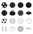 isolated object of sport and ball logo set of vector image vector image