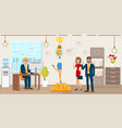 leadership in business flat vector image